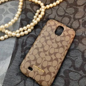 Coach phone case.